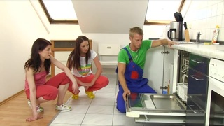 Female Domination video with a Plumber