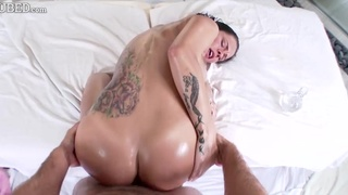 Young busty bitch Peta Jensen fucked with body oil