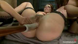 A whole wrist in Francesca Le's butt and some deep anal toying
