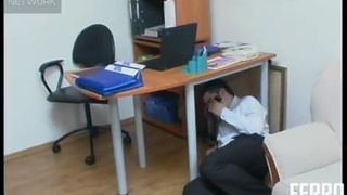 Russian Foot Fetish Scene With Mature Woman In The Office
