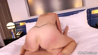 Long-Haired Old Hippie Lady Plays With Big Sex Toy