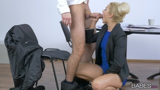 When Cherry Kiss takes on a monster dick in the office, it's hot as hell