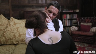 Hot maid Paige Turnah sacrifices her pussy to a stud's wants