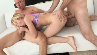 The fucking anal DP intensity leads this blonde to huge orgasms