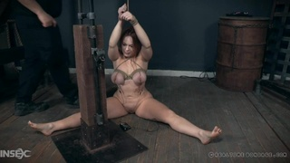 Tits tied up nicely on a pretty girl in the dungeon