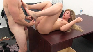 Getting a cute blonde to give up her ass for his pleasure