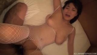 Large boobs Japanese cutie Kaho Shibuya gets her cunt fucked well