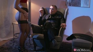 Provocative blonde wife teases with her lingerie and gets fucked hard