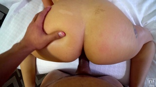 POV video of hot ass and tits Cassidy Banks pleasing her man