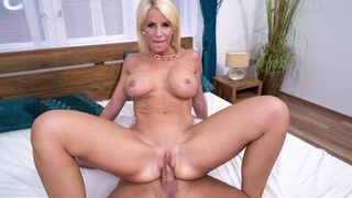 Slim milf with D-cup boobs Tiffany Rousso gives a BJ and gets fucked