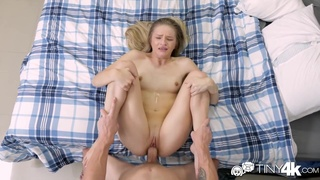 Sex-starved GF fucks herself with a dildo toy before crazy sex with boyfriend