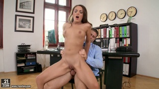 Compilation scene featuring Sharon Lee and other slutty secretaries