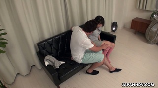 Young golf player Tomoyo Isumi is having sex fun with horny instructor