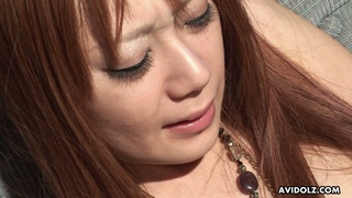 Kinky dude is toying hairy pussy and anus of slutty Japanese girl Rio