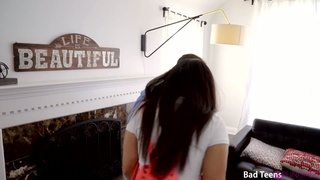 Stepdad is spanking and fucking spoiled stepdaughter Rose Darling