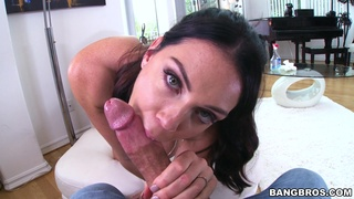 Horny maid Alison Tyler takes money to be face fucked by a stud