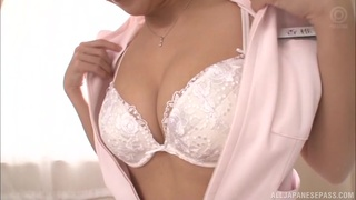 Lovely Japanese nurse Kashii Ria likes it when a guy cums on her face