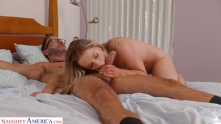 Topless chick Kate Kennedy gets seduced by a horny neighbor