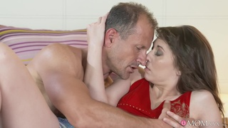 Desirable brunette Meggie Loki gets her hairy pussy licked