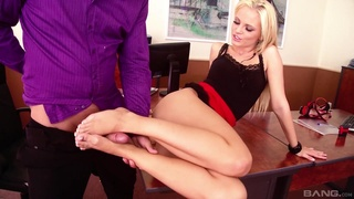 Kinky fucking in the office with sexy Vanda Lust. Footfetish
