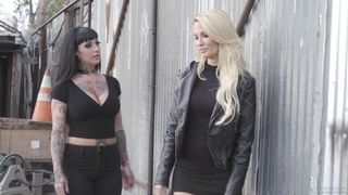 Jessica Drake and Jessie Lee have passionate lesbian sex at home