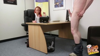 Amateur fucking in the office with cock hungry redhead Billie Rai