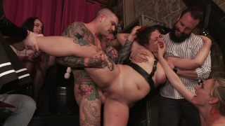 Slutty tied up wife Lady Nala gets tortured by a dude and Mona Wales