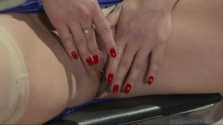 Hardcore MMF threesome with spit-roast for sexy Nicole Pearl