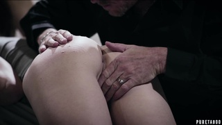 Zealous and sexy Syren De Mer just enjoys sensual MFF threesome for orgasm
