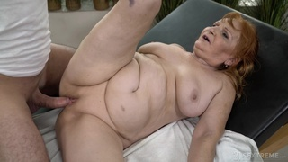 Instead of massage chubby wrinkled whore Marianne gets her twat banged