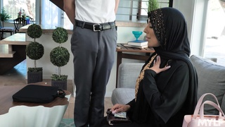 Hot big breasted hijab MILFie housewife Kylie Kingston is fucked doggy well