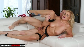 This seductive MILF is so wild and energetic and she loves to fuck younger men
