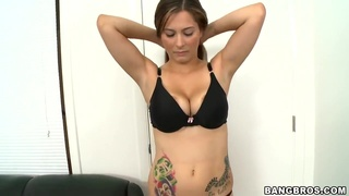 Busty Amateur Teen Alana Gets Fucked At The Casting