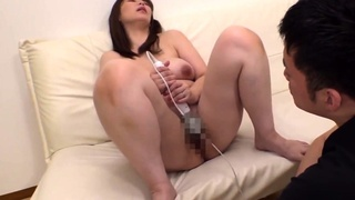 Hot and hairy pussy Asian drilled by toys