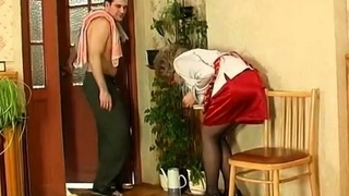 Amateur Mom and young boy 11