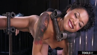 Black Bdsm Sub Fingered And Spanked By Dom
