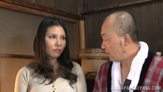 Nude busty Japan woman ready to fuck older guy