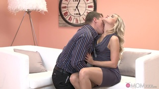 Soft oral and nude blowjob leads charming blonde to crazy sex