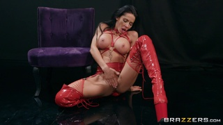 Madison Ivy is radiant in red fetish wear during rough boning