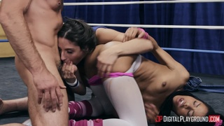 Bitches go full mode in a kinky anal threesome