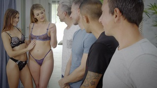 Nude girls show their lust for pussy in a hot teaser