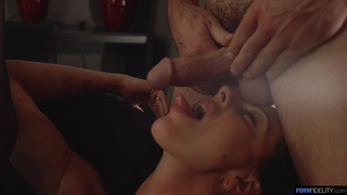 Deep drilling after the precious woman gives head like a goddess
