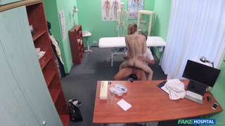 Full amateur sex play at the doctor's cabinet in secret XXX