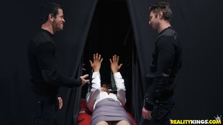 Two ravenous cads use Jenna Foxx's body as their personal plaything