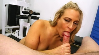 Insane POV from the work out girl who craves to swallow
