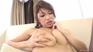 Asian model shows off when dealing dick with style