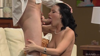 Cum on hot ass ending for moaning amateur babe Katie St Ives