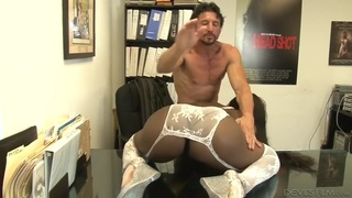 Ebony bombshell camille amore enjoys white cock in office