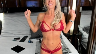 Hot blonde with big boobs solo