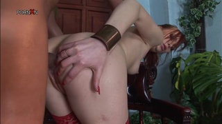 Anal sex for the slutty redhead babe Electra Angels